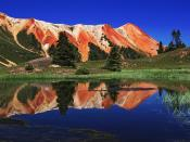 Red Mountain Reflected in Alpine Tarn in Gary Cooper Gulch Ouray Colorado 1600 x 1200